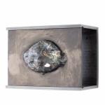 A slow dance across the Dome / Volcanic glass (Basalt), Black plaster, Valchromat / Lathwood